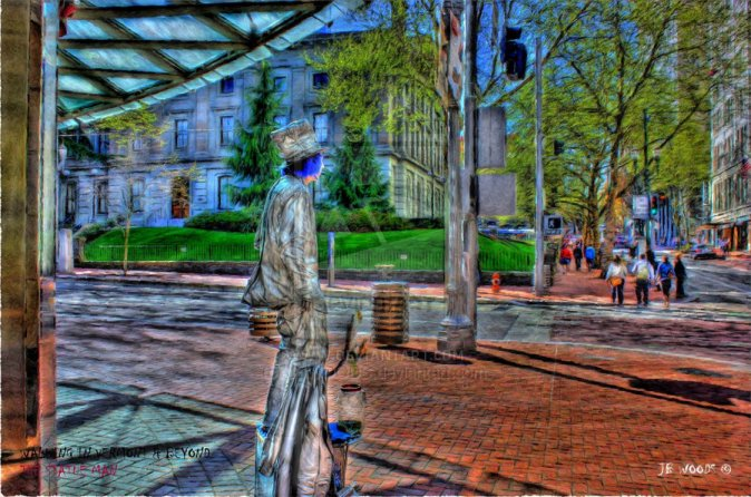 """Statue Man"" por JBWOODS en Deviantart.com. Licencia Creative Creative Commons Attribution-Noncommercial-No Derivative Works 3.0."