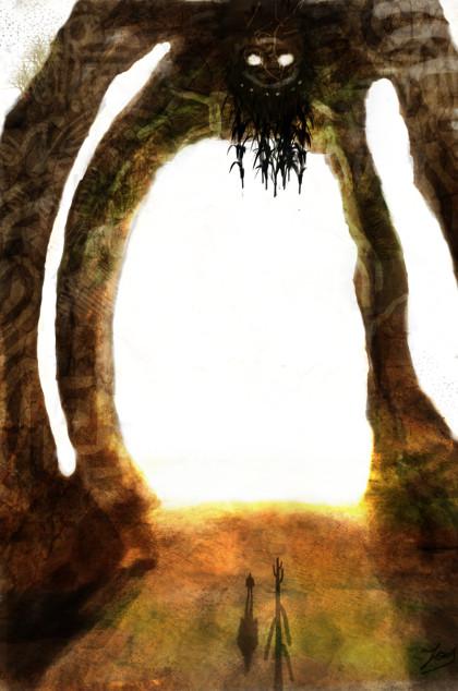 """The Sand Elder por Borruen en Deviantart.com. Licencia Creative Commons Attribution-Noncommercial-No Derivative Works 3.0.  Cuento de ciencia ficción: """"Hoatzin"""" por Rodrigo Torres Quezada"""