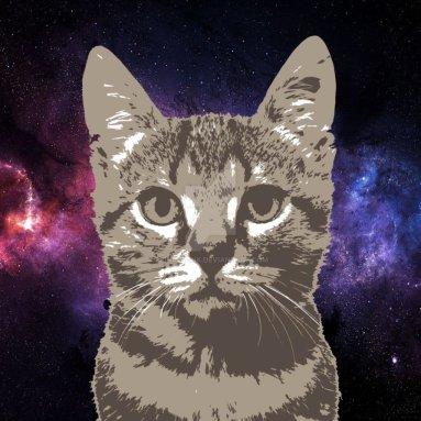 """space_cat_by_binary_ink-d8li5er.png Cuento de ciencia ficción: """"Viaje a un millón de crepúsculos"""" por Mauricio del Castillo"""