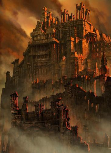"""""""Abandoned Castle"""" por MarieCrazyDove en Deviantart.com. Licencia Creative Commons Attribution-Noncommercial-No Derivative Works 3.0"""